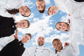 Chef And Waiters — Stock Photo