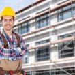 Architect  Against Building — Stock Photo #58792025