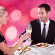 Couple At Restaurant — Stock Photo #58793541