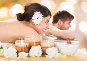 Couple  In Beauty Spa — Stock Photo