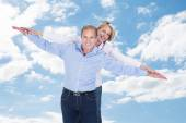 Couple  Against Cloudy Sky — Stock Photo
