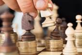 Hand Playing Chess — Stock Photo