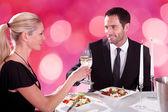 Couple   At Restaurant — Stock Photo