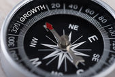 Compass Indicating Growth — Stock Photo