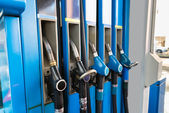 Fuel Pumps At Gas Station — Foto Stock