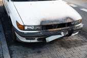 Damaged Car On Street — Stock Photo
