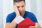 Man Looking At Letter — Stock Photo