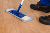 Janitor Mopping — Stock Photo