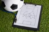 Soccer Tactic Diagram — Stock Photo