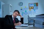 Boredom Mature Businessman — Stock Photo