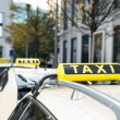 Постер, плакат: Array Of Taxi Cabs Parked