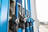 Fuel Pump Nozzles — Stock Photo