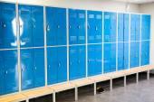 Blue Lockers In Room — Stock Photo