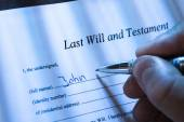 Person Writing Last Will — Stock Photo