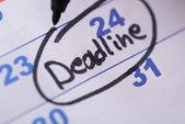 Deadline Written On Date — Stock Photo