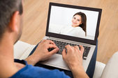 Man Having Video chat — Stock Photo