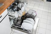 Utensils Arranged In Dishwasher — Stock Photo