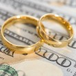 Rings On Us Dollars — Stock Photo #63936201