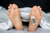 Person With Toe Tag — Stock Photo