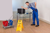 Worker Suffering From Back Pain — Stock Photo