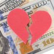 Broken Heart On Us Currency — Stock Photo #64646583