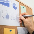 Businessman Drawing Graph — Stock Photo #64647235