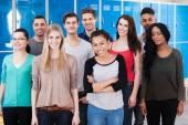 Multiethnic College Students — Stock Photo