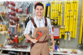 Smiling Male Plumber — Stock Photo