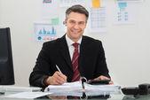 Happy Mature Businessman — Stock Photo