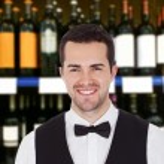 Smiling Male Bartender — Stock Photo #65209649