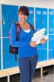 Female Student Holding Book — Stock Photo