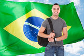 Happy Male Student With Bag — Stock Photo