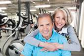 Happy Mature Couple At Gym — Stock Photo