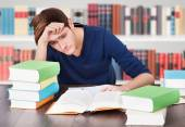 Young Tired Man At Library — Stock Photo