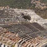 Ancient amphitheater in Ephesus — Stock Photo #65211519