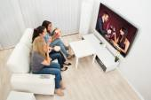 Young Women Watching Movie — Foto de Stock