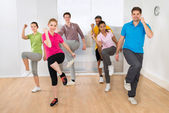 People Dancing In Gym — Stock Photo