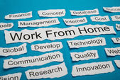 Work From Home Text — Stock Photo