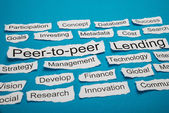 Peer-to-peer And Lending Text — Stock Photo