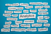 Word Analytics On Paper — Stock Photo