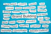 Words Brand Building — Stock Photo