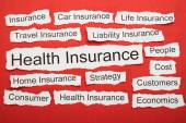 Health Insurance Text — Stock Photo