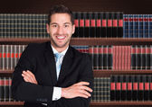 Happy Male Lawyer — Stock Photo
