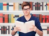 Man Holding Book — Stock Photo