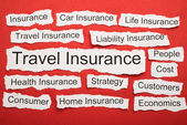 Travel Insurance Text — Stock Photo