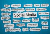 Social Media Text — Stock Photo