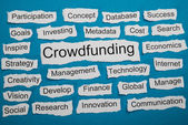 Word Crowdfunding On Paper — Stock Photo