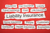 Liability Insurance Text — Stock Photo