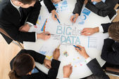 Businesspeople  Planning Big data — Stock Photo