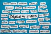 Word Digital Analytics On Paper — Stock Photo